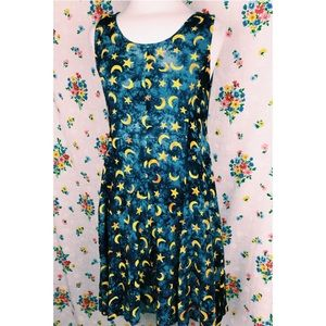 Sun and moon celestial 90s dress